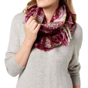Charter Club Accessories - Plaid Infinity Scarf Wine
